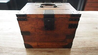 """Calligraphy Tansu Chest - About 11""""W x 8""""D x 8.5""""H - 4 lbs. 9 oz."""
