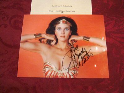 Lynda Carter - Very Young Wonder Woman - Hand Signed Autographed Photo With Coa