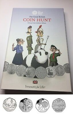 Great British Coin Hunt 50p coin Fold Album  Collector Pack With coins