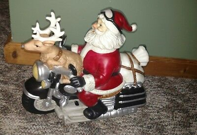 MELODY IN MOTION Animated Musical 2004 SANTA CLAUS Christmas Motorcycle