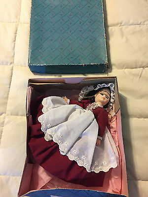 Vintage Large Madame Alexander Marme 1324 Brunette Red Dress Doll & Box