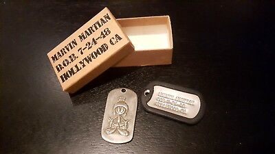MARVIN the MARTIAN Dog Tags and Original box, from Warner Bros in Los Angeles