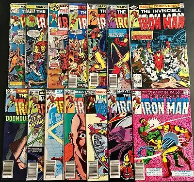 Iron Man Comic Books Marvel Mixed 14 Book Lot Incls Some High Grades No Reserve