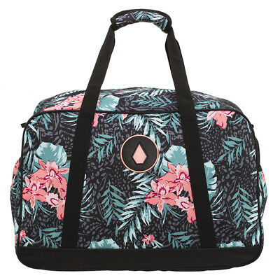 Volcom Patch Attack Overnight Travel Bag in Pink