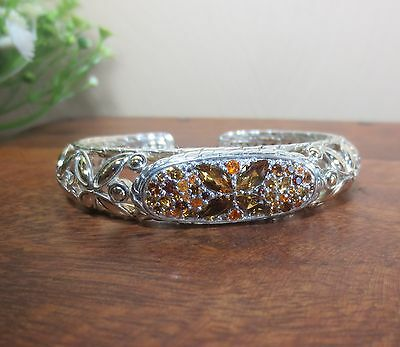 John Hardy 18K GoldSterling Batu Kawung Sunset Colorway Citrine Cuff Bracelet
