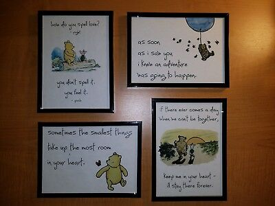 Classic Winnie the Pooh nursery pictures (set of 4)