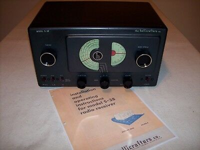 Hallicrafters S-38 Shortwave Ham Radio Receiver 1946 Model– Excellent & Restored