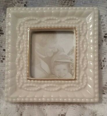 Lenox Ivory & Gold Trimmed Small Portrait /Photo Picture Frame ~ Desk Office