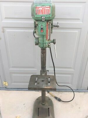 "Vintage Powermatic 1150 Drill Press 15"" Floor Model with Tilting Table, 1ph 110v"