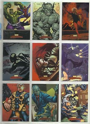 Marvel Masterpieces Series 1 - Complete Card SET (90) - 2007 NM