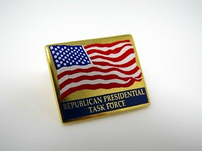Vintage Political Collectible Pin: Republican Presidential Task Force