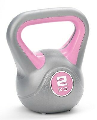 (Pink) - York Vinyl Kettlebell. York Fitness. Free Delivery