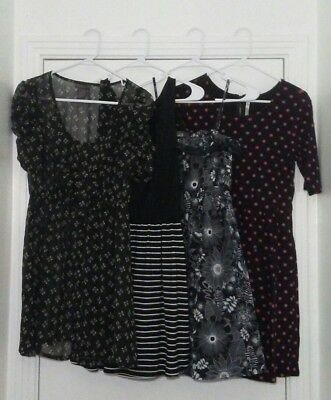 Lot of 4 Vintage Style Dresses Size MEDIUM Mod Retro Rockabilly Pinup Girl Goth