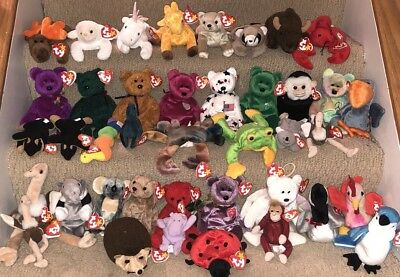 41 Ty Beanie Babies All With Tags Collection Lot -  Beanies Teenies