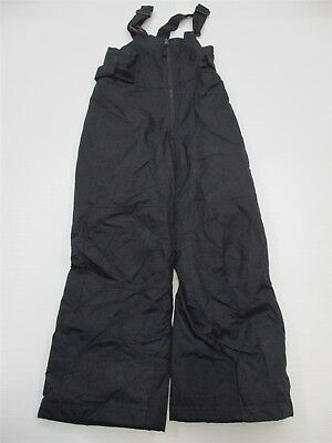 COLUMBIA #PA6267 Youth Size 8 Overall Suit Solid Black Snowboarding Ski Pants