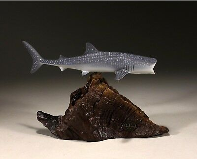 WHALE SHARK Sculpture New direct from JOHN PERRY 9in long Statue Figurine Decor