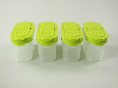 Tupperware© Miniature Spice Containers 120ml Lime (4) Spice Jars Spice Jars