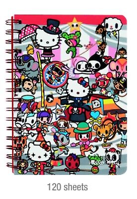 Sanrio Hello Kitty:Tokidoki Sprial Notebook 120 Sheets W/ 2 Design