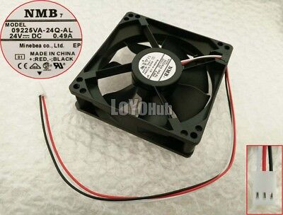 New 09225VA-24Q-AL system fan NMB 9225 24V0.49A chassis cooling fan 3wire 3pin