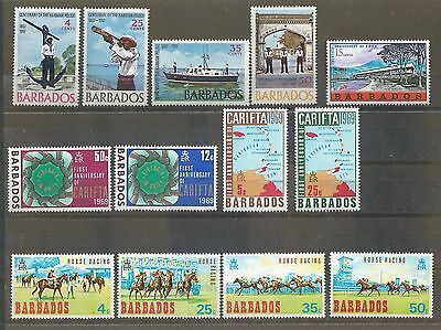 Barbados - 1967 to 1969 - Four different commemorative sets - Un-mounted mint