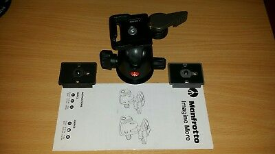 Manfrotto 496RC2 Tripod Ball Head with 2 Base Plates - Used