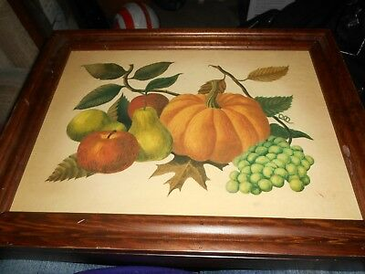 Vintage 1965 Three Mountaineer Hidden Spice Rack Fruit Picture Cover