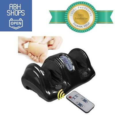 Shiatsu Foot Massager Black With Remote Control Kneading Rolling Adjustable New