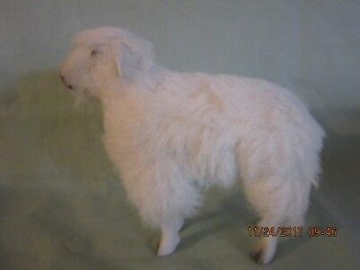 Vintage Wooly GermanSheep-Bisque head and face-White