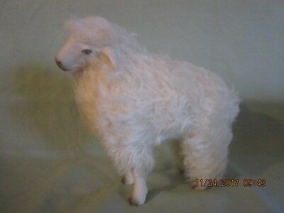 Vintage Wooly GermanSheep-Bisque face and Legs-White