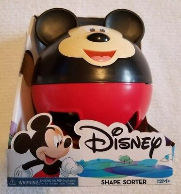 Disney MICKEY MOUSE Talking SHAPE SORTER Teaches Shapes Numbers Letters ~NEW~