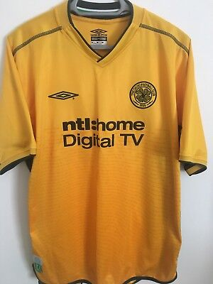 Genuine Celtic Football Soccer Away Shirt Size Adult Large 2002/2003 Umbro