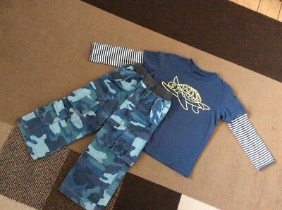 Mini Boden Boys Bundle Trousers And Top Age 3-4 Years