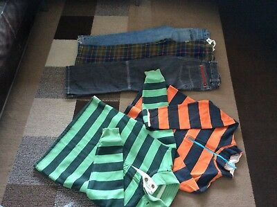 Mini Boden Boys Bundle Trousers Sweatshirts Tartan Baggies Jeans Age 9-10
