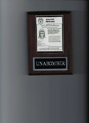Unabomber Wanted Poster Mounted Mafia Organized Crime Mobster Mob