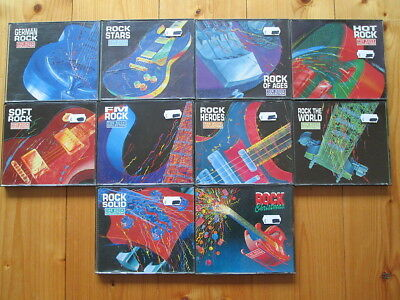 20 CDs - 10 Doppel CDs - The Rock Collection - Time Life Serie -  SAMMLUNG