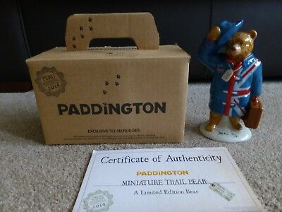 "Wade Paddington Bear 7"" Tall Signed By Stephen Fry - ""britain Is Great"""