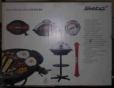 steba elektrogrill vg 350 standgrill grill vg350 bbq grill thermostat haube eur 176 98. Black Bedroom Furniture Sets. Home Design Ideas