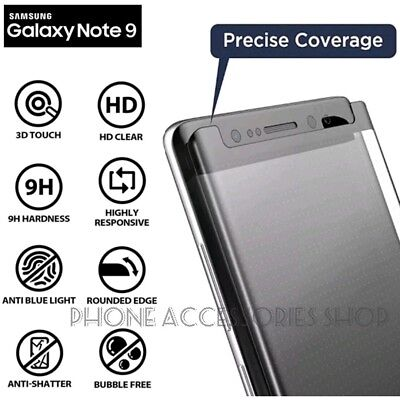 5D Full Cover Tempered Glass Screen Protector For Samsung note 9 [Case Friendly]