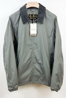 Barbour Lundy Gray Casual Full Zip Jacket, Size Large