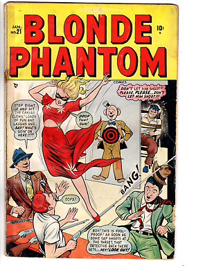 Blonde Phantom Comics # 21 (GD 2.0) 1949 GGA Sub-Mariner Timely/Marvel