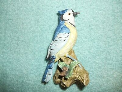 Porcelain Blue Jay Hand Painted Figurine - Lefton China