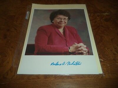 Barbara Mikulski Autographed 8x10 Photo