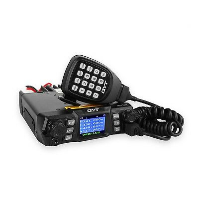 QYT KT-980 Plus VHF 136-174mhz UHF 400-520mhz 75W Dual Band Base Mobile C... New