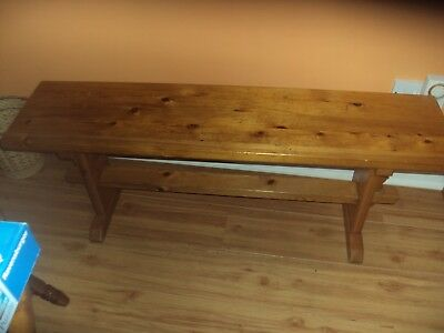 Solid Pine Hand-Made Bench - Made By Hamlet Furniture In Early 1970S