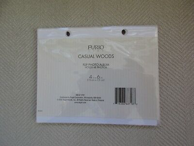 """Furio Home Flip Photo Album Stand Refill Pages 4"""" x 6"""" Holds 48 Photos"""