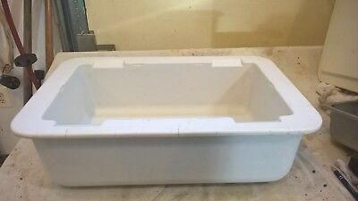 CARLISLE Coldmaster CM104202 Full Size Food Pan, White, 24 Qt With Lid