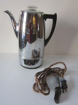 VTG Universal COFFEEMATIC 8 cup LF&C #EA-4428 Electric Coffee Percolator Pot USA