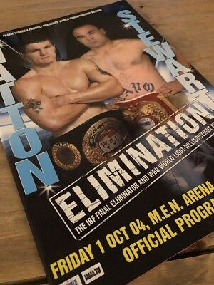 Ricky Hatton v Stewart Official Boxing Programme 2004