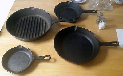 Vintage Philippe Richard Cast Iron Frying Pan and Skillet Set
