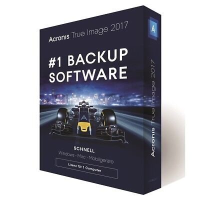 Acronis True Image 2017 1-Gerät -  Backup - Windows / MAC  -  Box